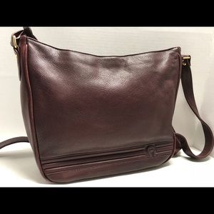 Etienne aigner burgundy leather women's crossbody